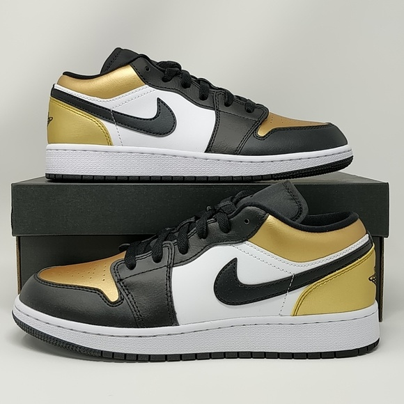 Nike Air Jordan Retro I Low GS Gold Toe CQ9487 700 NWT